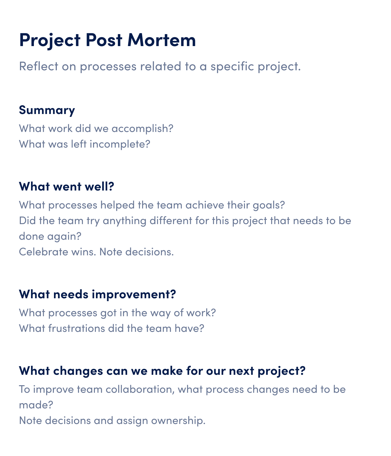 3 Steps to a Post Mortem Meeting