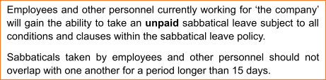 Clause Defining Sabbatical Leave