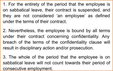 Suspension Clause of Sabbatical Leaves