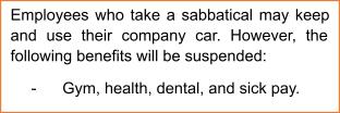 Benefits Clause for Sabbaticals