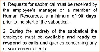 Time Clause for Sabbatical Leave Application